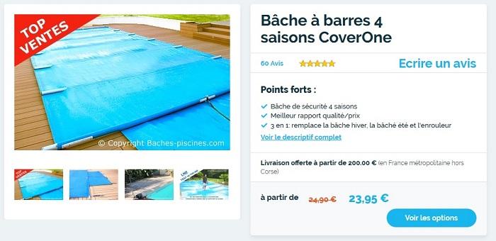 couverture de piscine rectangle