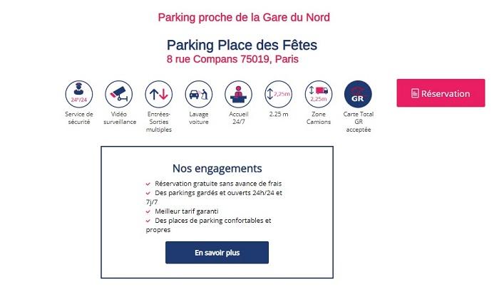parking gare du nord