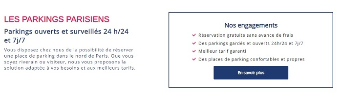 PARKING PAS CHER PARIS